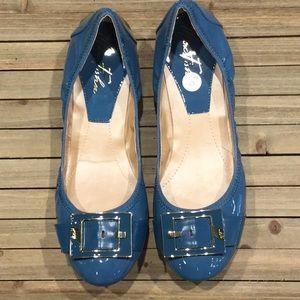 New Marc Fisher Blue Ballet Flats Size 10